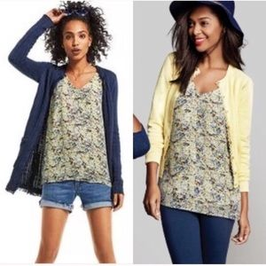 CABI NWOT Yellow Floral Scatter Print Cami Tank
